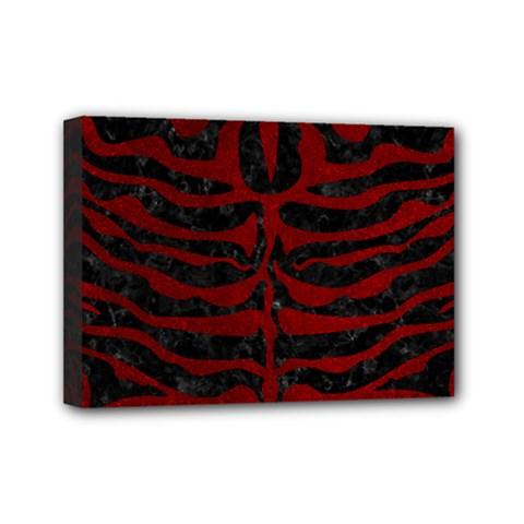 Skin2 Black Marble & Red Grunge (r) Mini Canvas 7  X 5  by trendistuff