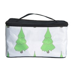 Background Christmas Christmas Tree Cosmetic Storage Case by Onesevenart