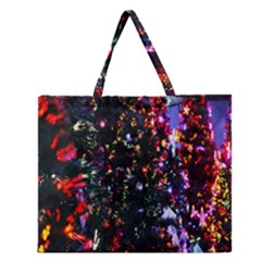 Abstract Background Celebration Zipper Large Tote Bag by Onesevenart