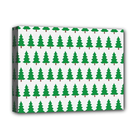 Christmas Background Christmas Tree Deluxe Canvas 16  X 12   by Onesevenart