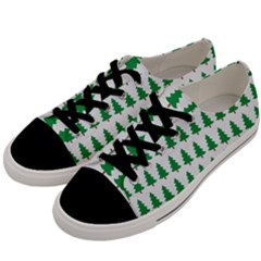Christmas Background Christmas Tree Men s Low Top Canvas Sneakers by Onesevenart