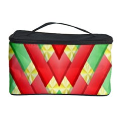 Christmas Geometric 3d Design Cosmetic Storage Case by Onesevenart