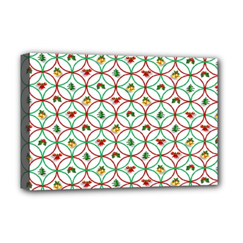 Christmas Decorations Background Deluxe Canvas 18  X 12   by Onesevenart