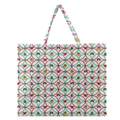 Christmas Decorations Background Zipper Large Tote Bag by Onesevenart