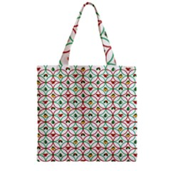 Christmas Decorations Background Zipper Grocery Tote Bag by Onesevenart
