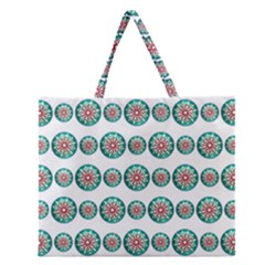 Christmas 3d Decoration Colorful Zipper Large Tote Bag by Onesevenart