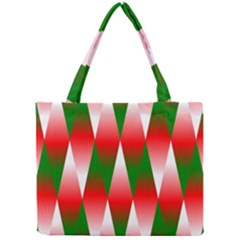 Christmas Geometric Background Mini Tote Bag by Onesevenart