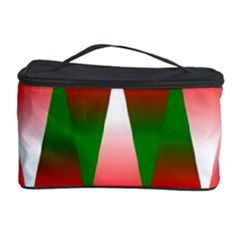 Christmas Geometric Background Cosmetic Storage Case by Onesevenart