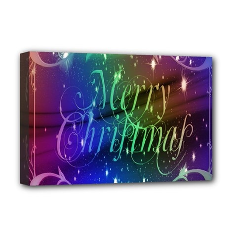 Christmas Greeting Card Frame Deluxe Canvas 18  X 12   by Onesevenart