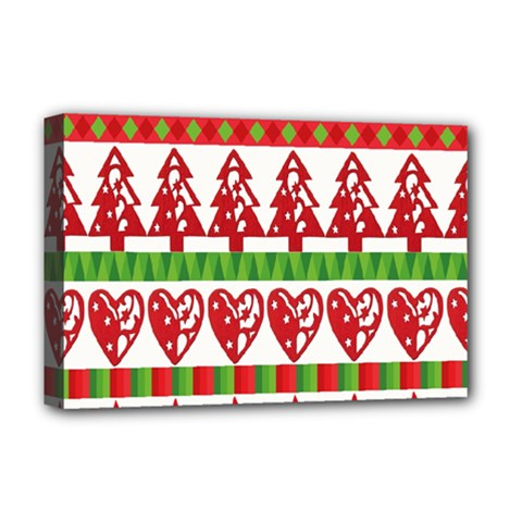 Christmas Icon Set Bands Star Fir Deluxe Canvas 18  X 12   by Onesevenart