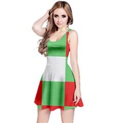 Fabric Christmas Colors Bright Reversible Sleeveless Dress by Onesevenart