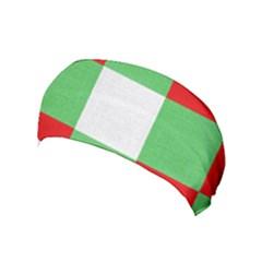 Fabric Christmas Colors Bright Yoga Headband by Onesevenart