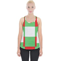 Fabric Christmas Colors Bright Piece Up Tank Top by Onesevenart