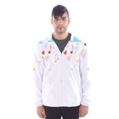 Music Cloud Heart Love Valentine Star Polka Dots Rainbow Mask Sky Hooded Wind Breaker (men) by Alisyart