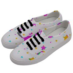 Star Triangle Space Rainbow Women s Classic Low Top Sneakers by Alisyart
