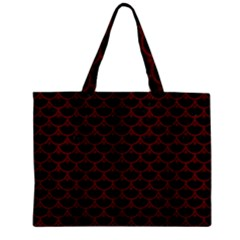 Scales3 Black Marble & Red Wood (r) Zipper Mini Tote Bag by trendistuff
