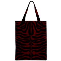 Skin2 Black Marble & Red Wood (r) Zipper Classic Tote Bag by trendistuff