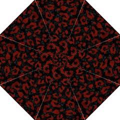Skin5 Black Marble & Red Wood Golf Umbrellas by trendistuff