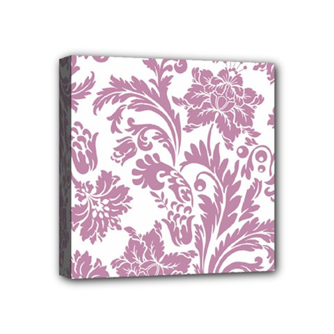 Vintage Floral Pattern Mini Canvas 4  X 4  by 8fugoso