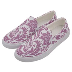 Vintage Floral Pattern Men s Canvas Slip Ons by 8fugoso