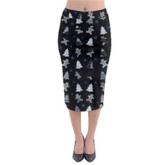 Ginger Cookies Christmas Pattern Midi Pencil Skirt by Valentinaart