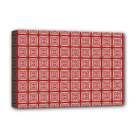 Christmas Paper Wrapping Paper Deluxe Canvas 18  X 12   by Onesevenart