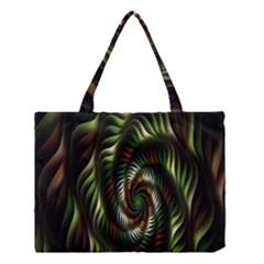 Fractal Christmas Colors Christmas Medium Tote Bag by Onesevenart