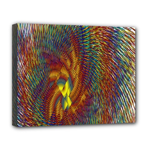 Fire New Year S Eve Spark Sparkler Deluxe Canvas 20  X 16   by Onesevenart