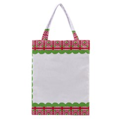 Frame Pattern Christmas Frame Classic Tote Bag by Onesevenart