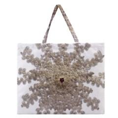 Gold Golden Gems Gemstones Ruby Zipper Large Tote Bag by Onesevenart