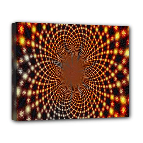 Pattern Texture Star Rings Deluxe Canvas 20  X 16   by Onesevenart
