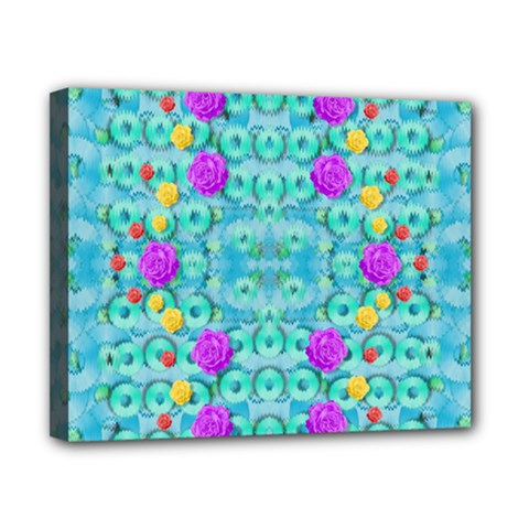 Season For Roses And Polka Dots Canvas 10  X 8  by pepitasart