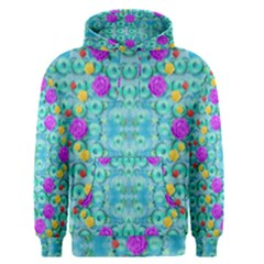 Season For Roses And Polka Dots Men s Pullover Hoodie