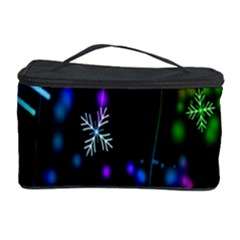 Snowflakes Snow Winter Christmas Cosmetic Storage Case by Onesevenart