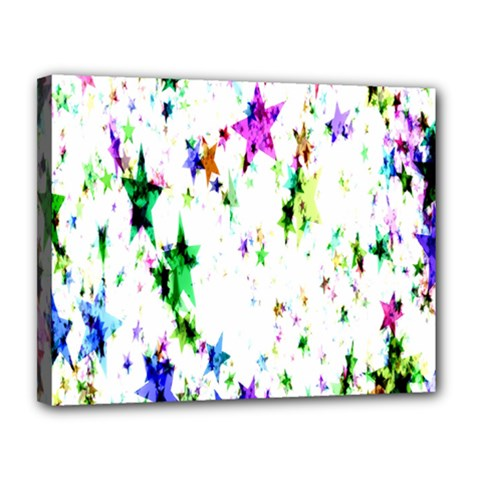 Star Abstract Advent Christmas Canvas 14  X 11  by Onesevenart