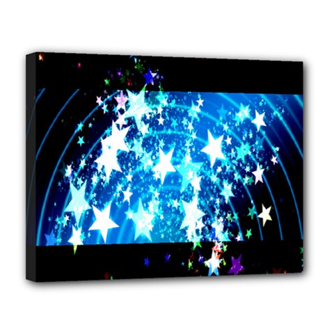 Star Abstract Background Pattern Canvas 14  X 11  by Onesevenart