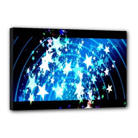 Star Abstract Background Pattern Canvas 18  X 12