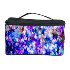 Star Abstract Advent Christmas Cosmetic Storage Case by Onesevenart