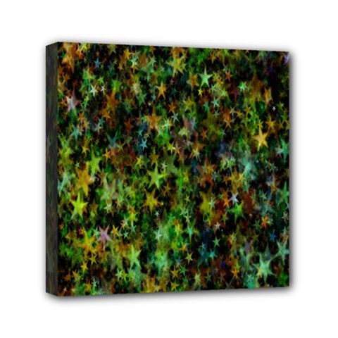 Star Abstract Advent Christmas Mini Canvas 6  X 6  by Onesevenart