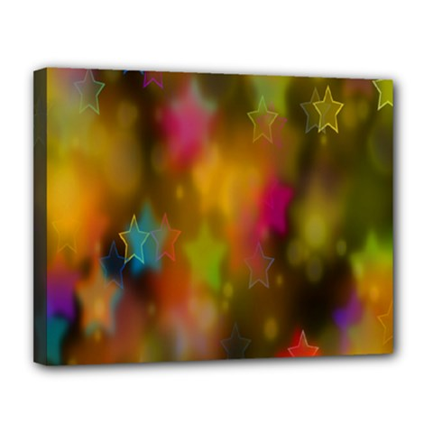 Star Background Texture Pattern Canvas 14  X 11  by Onesevenart
