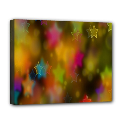 Star Background Texture Pattern Deluxe Canvas 20  X 16   by Onesevenart