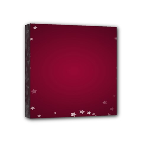 Star Background Christmas Red Mini Canvas 4  X 4  by Onesevenart