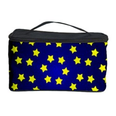 Star Christmas Red Yellow Cosmetic Storage Case by Onesevenart