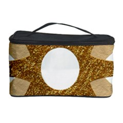 Star Golden Glittering Yellow Rays Cosmetic Storage Case by Onesevenart