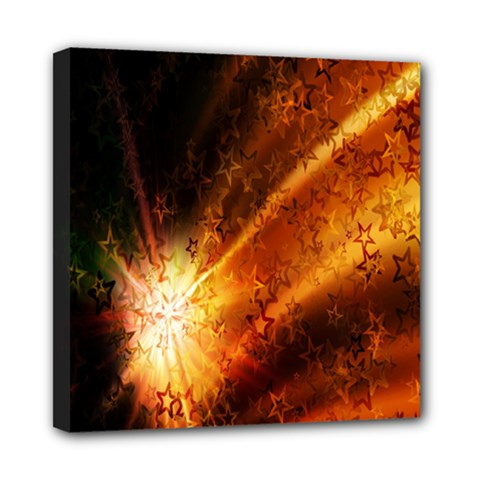 Star Sky Graphic Night Background Mini Canvas 8  X 8  by Onesevenart