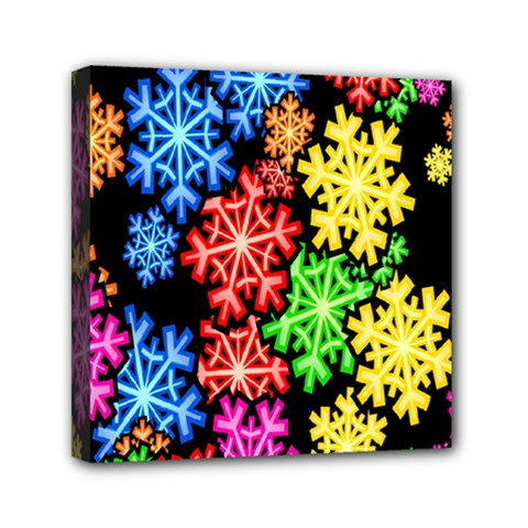 Wallpaper Background Abstract Mini Canvas 6  X 6  by Onesevenart