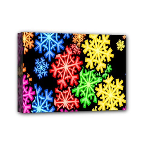 Wallpaper Background Abstract Mini Canvas 7  X 5  by Onesevenart