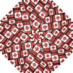 Canadian Flag Motif Pattern Folding Umbrellas by dflcprints