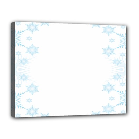 The Background Snow Snowflakes Canvas 14  X 11  by Onesevenart