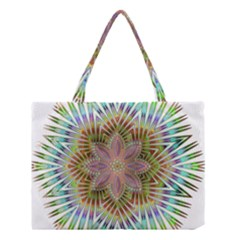 Star Flower Glass Sexy Chromatic Symmetric Medium Tote Bag by Jojostore